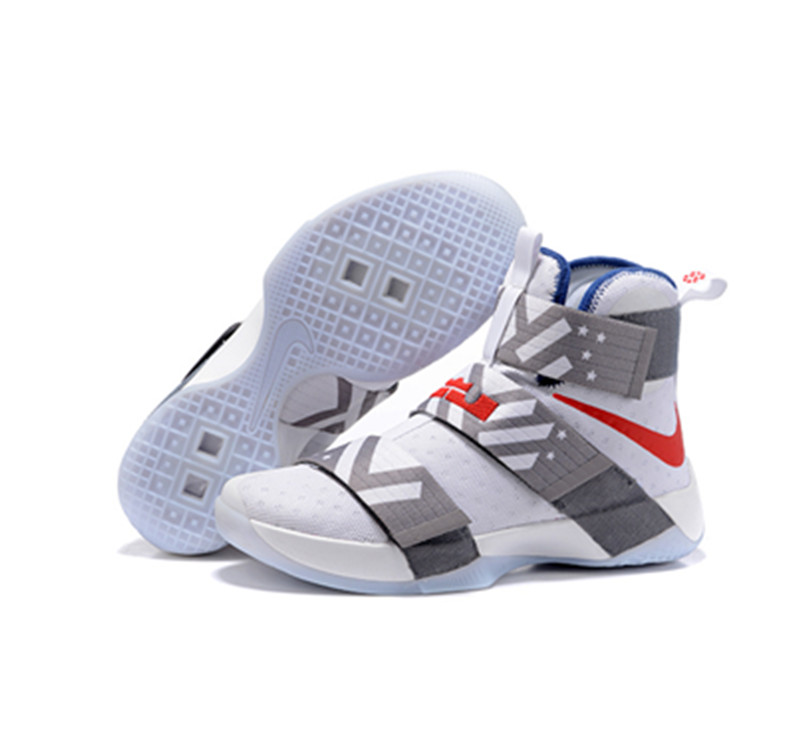 Nike Lebron Soldier 10 X Shoes white grey
