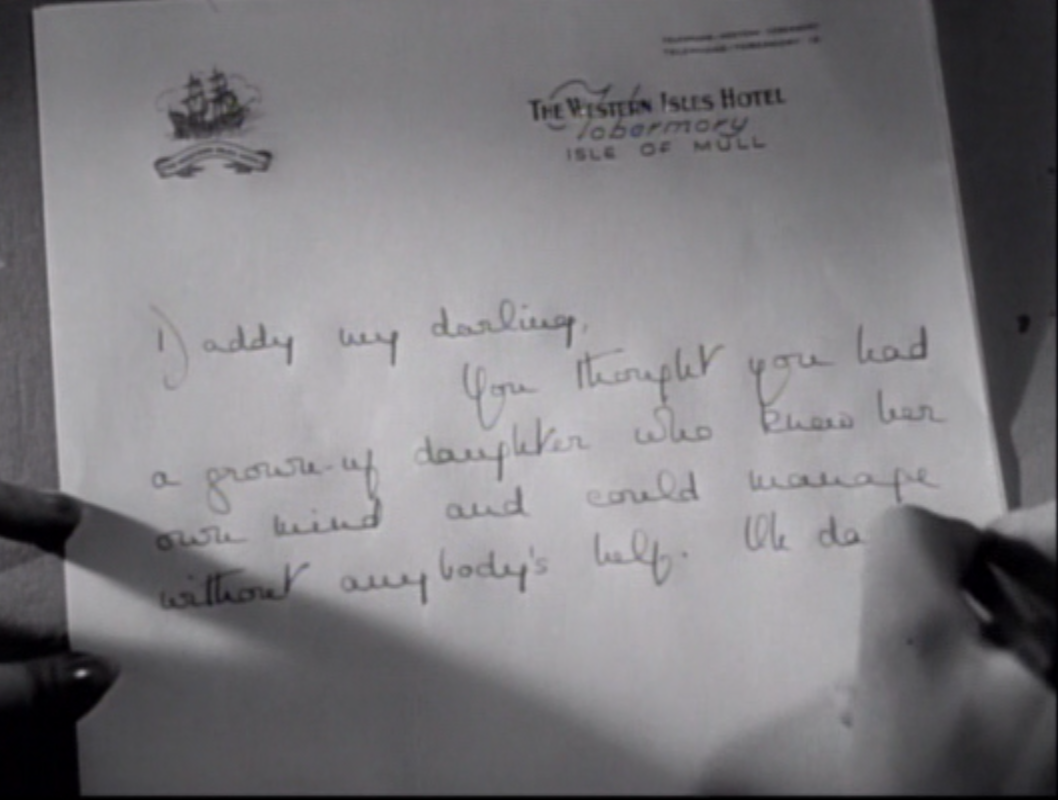Joan writes to her father on stationery from the Western Isles Hotel, one of the sites IKWIG pilgrims still visit.