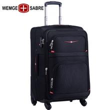 箱包 WEMGE瑞士军刀拉杆箱万向轮旅行箱男女学生行李箱牛津布密码