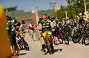Packers ride bikes down DreamDrive to practice