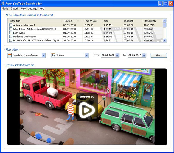 Auto YouTube Downloader: Simple view