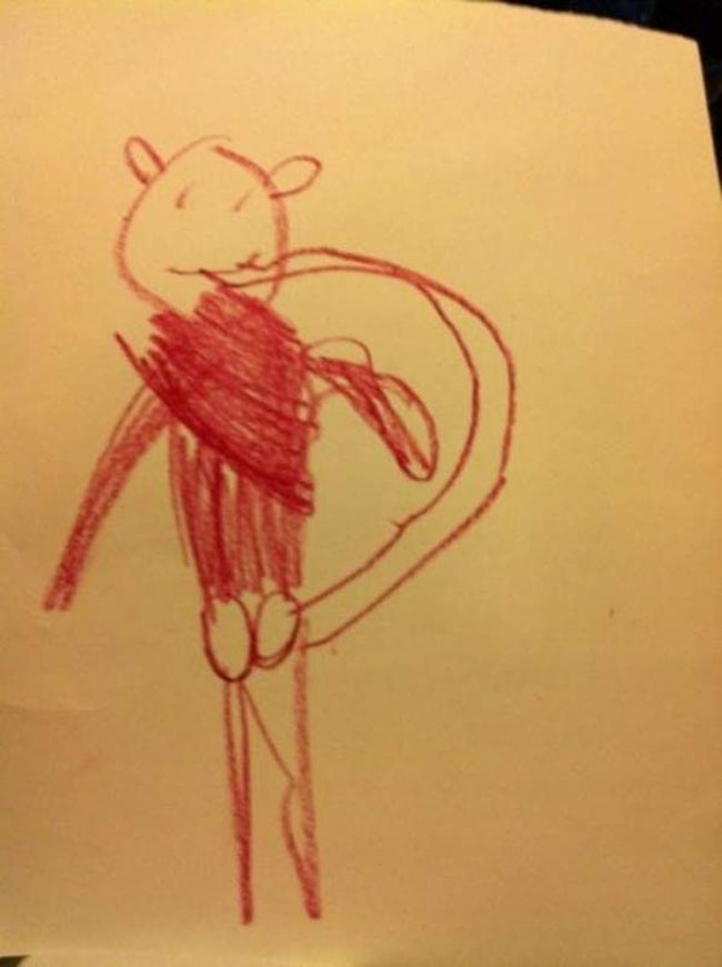 Lucky Guy is listed (or ranked) 40 on the list 51 Unintentionally Hilarious Kids' Drawings