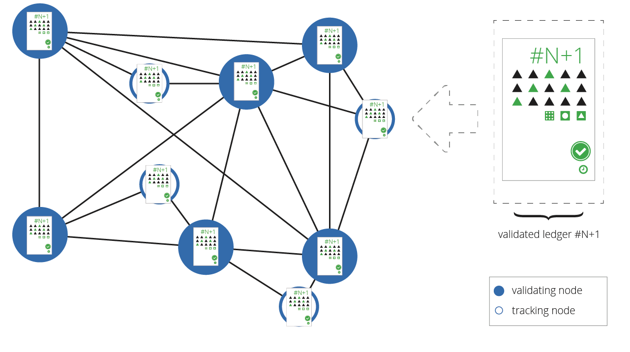 Figure 9: Network Recognizes a New Validated Ledger Version