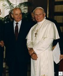 Pope+gorbachev