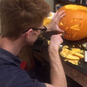 Family pumpkin carving... OH THE JOYS!