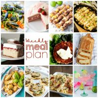 Weekly Meal Plan Week 111– 10 great bloggers bringing you a full week of recipes including dinner, sides dishes, and desserts!