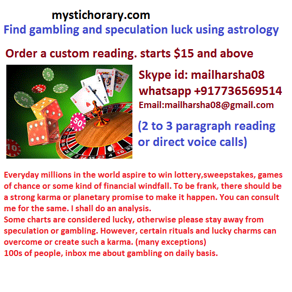 Analyse gambling and speculation luck using astrology