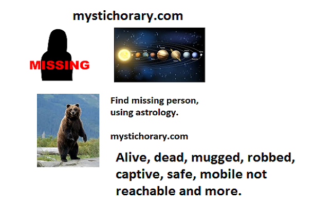missing person astrology