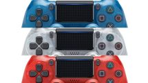 Sony's new 'Crystal' DualShock 4s are red, white and blue