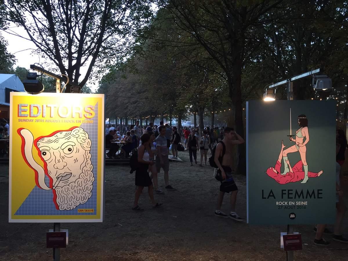 Les affiches de Rock en Seine par Cédric C.