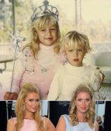 Paris Hilton shared a throwback photo of her and Nicky Hilton.