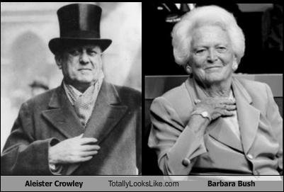 Image result for picture of barbara bush and aleister crowley