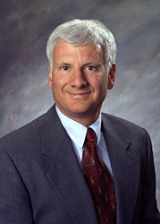 Posed profile of Joseph E. Pizzorno Jr., ND, founding president emeritus of Bastyr University.
