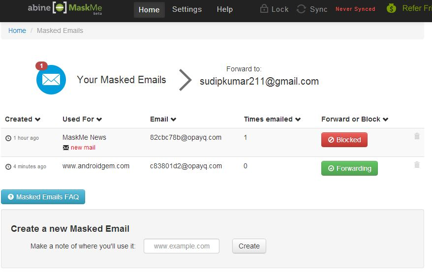 block the spam mail with source