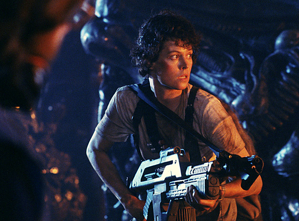 Sigourney Weaver, Alien | In the first Alien , Weaver's Ripley was an unlikely hero. By the sequel, she was a battle-scarred cynic — and part of the fun…