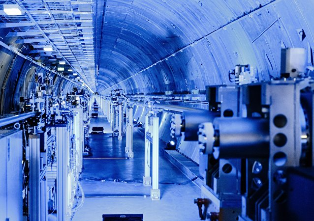 The tunnel system of the European XFEL X-ray laser, with a length of 3.5 kilometers the longest in the world, is pictured on October 6, 2016 in Schenefeld, northern Germany