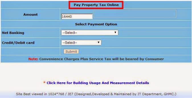 GHMC Property Tax Payment