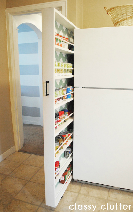 "6. A Slide-Out Pantry in 6"" of Space"