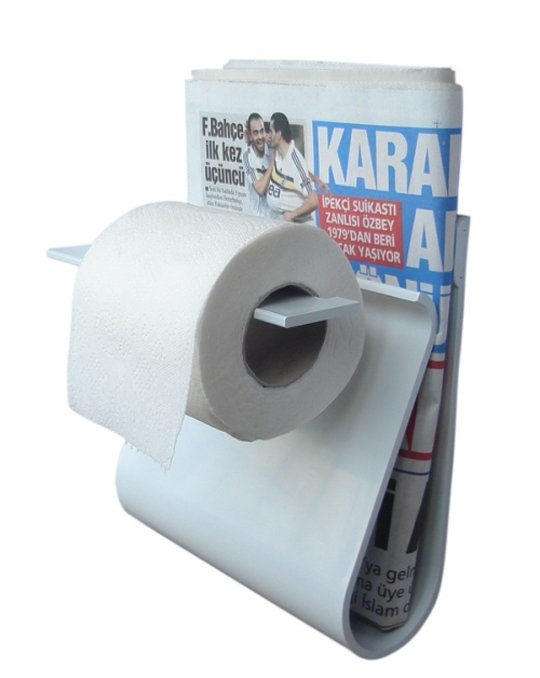 3. The Toilet Paper and Magazine Holder 2 in 1.