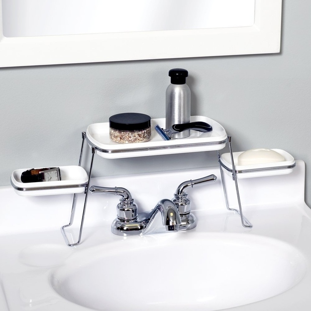 7. An Over-the-Faucet Shelf for Toiletries