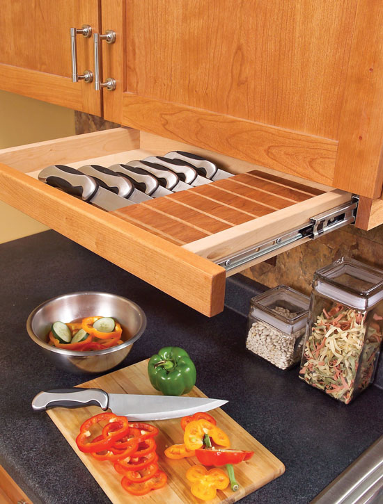 31. An Under-Cabinet Knife Drawer