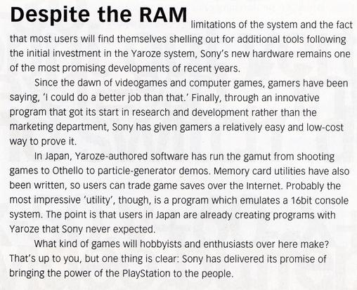 ... Despite enthusiasm from the development community, sceptics may ask some questions about the true importance of yaroze..