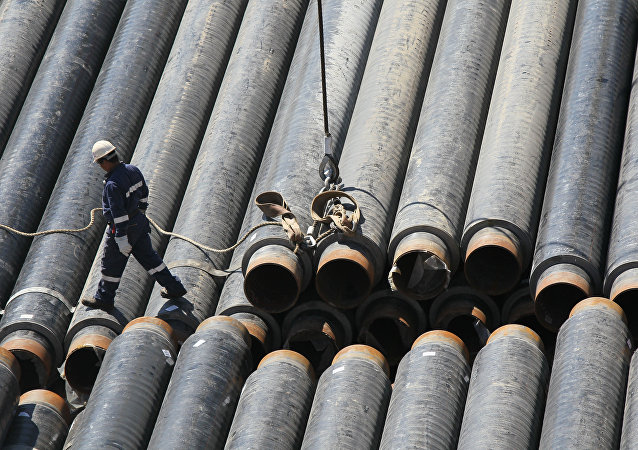 Building gas pipeline. File photo