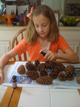 Pine Cone Crafts: November is the season of pine cones! You can find