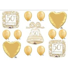 50th anniversary party on Pinterest | 50th Anniversary Decorations