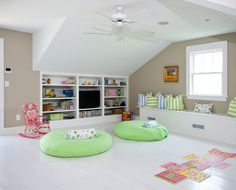 White, simple, frog (finished room over garage) turned clean and