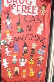 red ribbon week door idea More