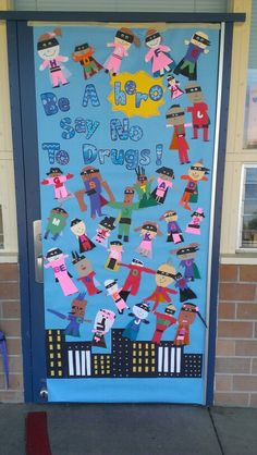 Red ribbon week door decorating contest