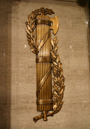 Image result for fasces on speakers podium