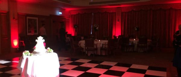South Lodge Uplighting Red