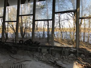Pripyat River view from the cafe