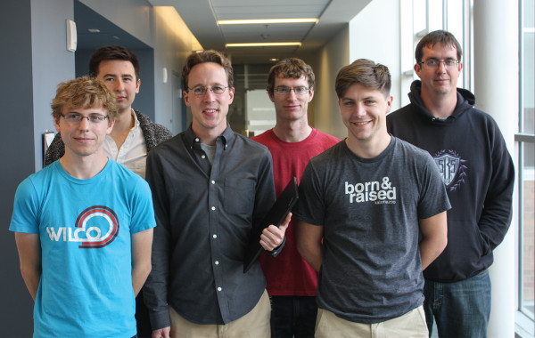 **Alex Halderman (third from left) and a team of University of Michigan grad students who research algorithms in encrypted communication.**