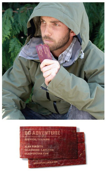 24.) Entice your clients with this tasty beef jerky card that stays fresh for a year.