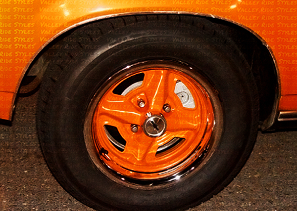 13-inch General Motors color matched wheel 1975-80