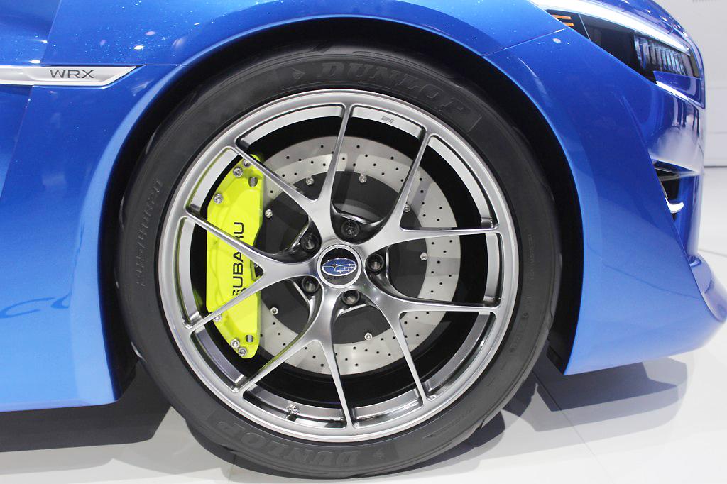 2013 Subaru WRX concept wheel at the 2013 New York Auto Show