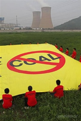 Action at Coal Power Plant in Beijing