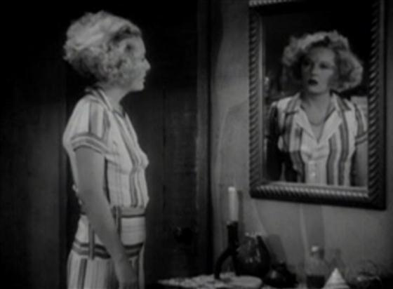 Safe in Hell Gilda in the mirror