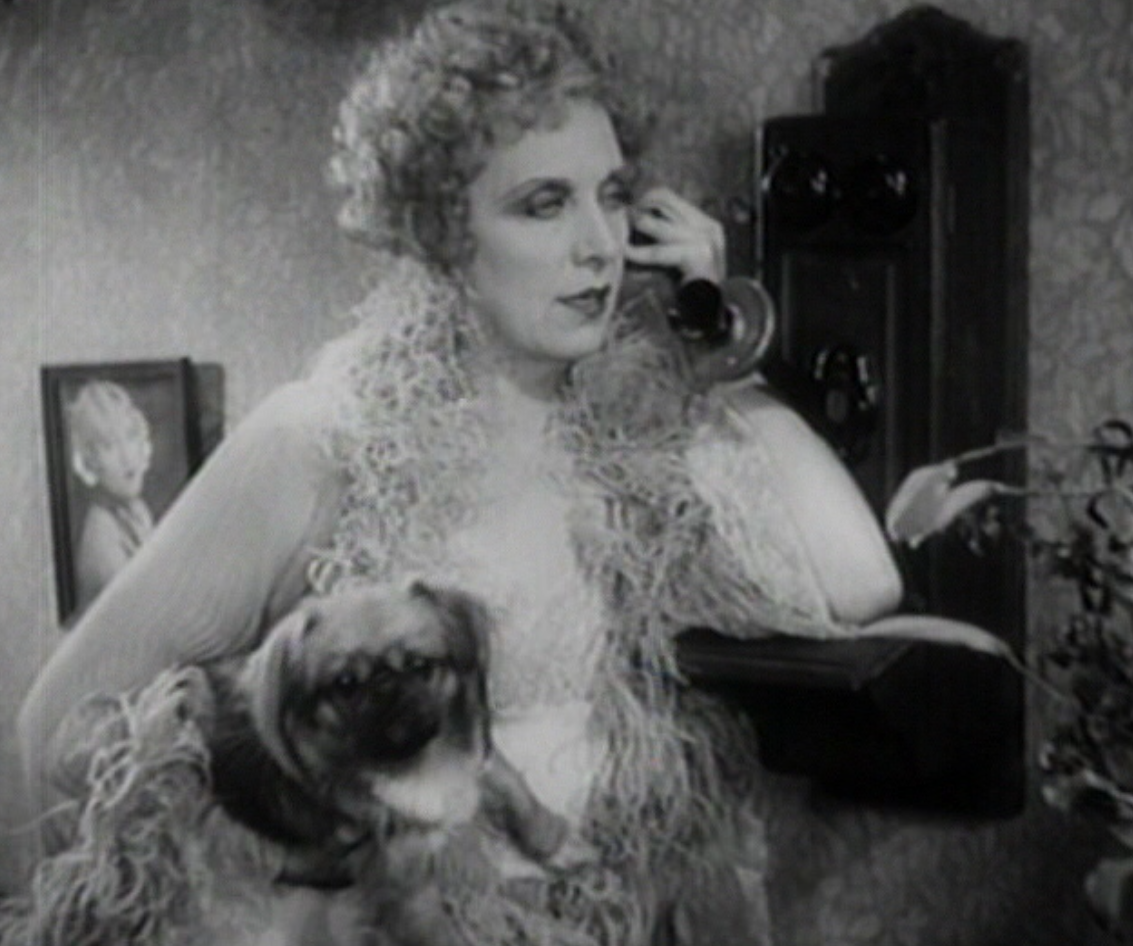 Cecil Cunningham, better known as Aunt Patsy in The Awful Truth, as Gilda's madam