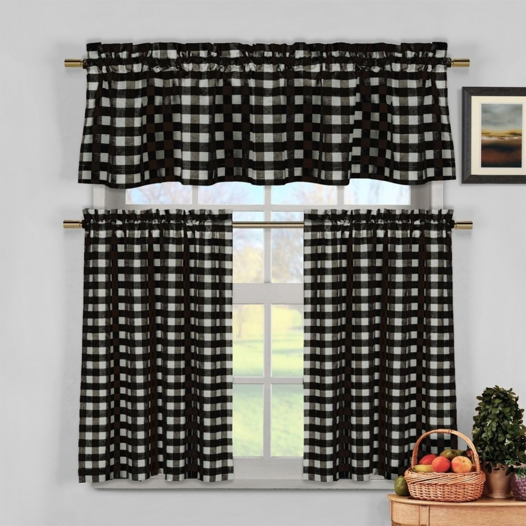 Image of: Black and White Kitchen Curtains