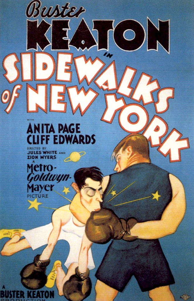 Buster Keaton Sidewalks of New York poster