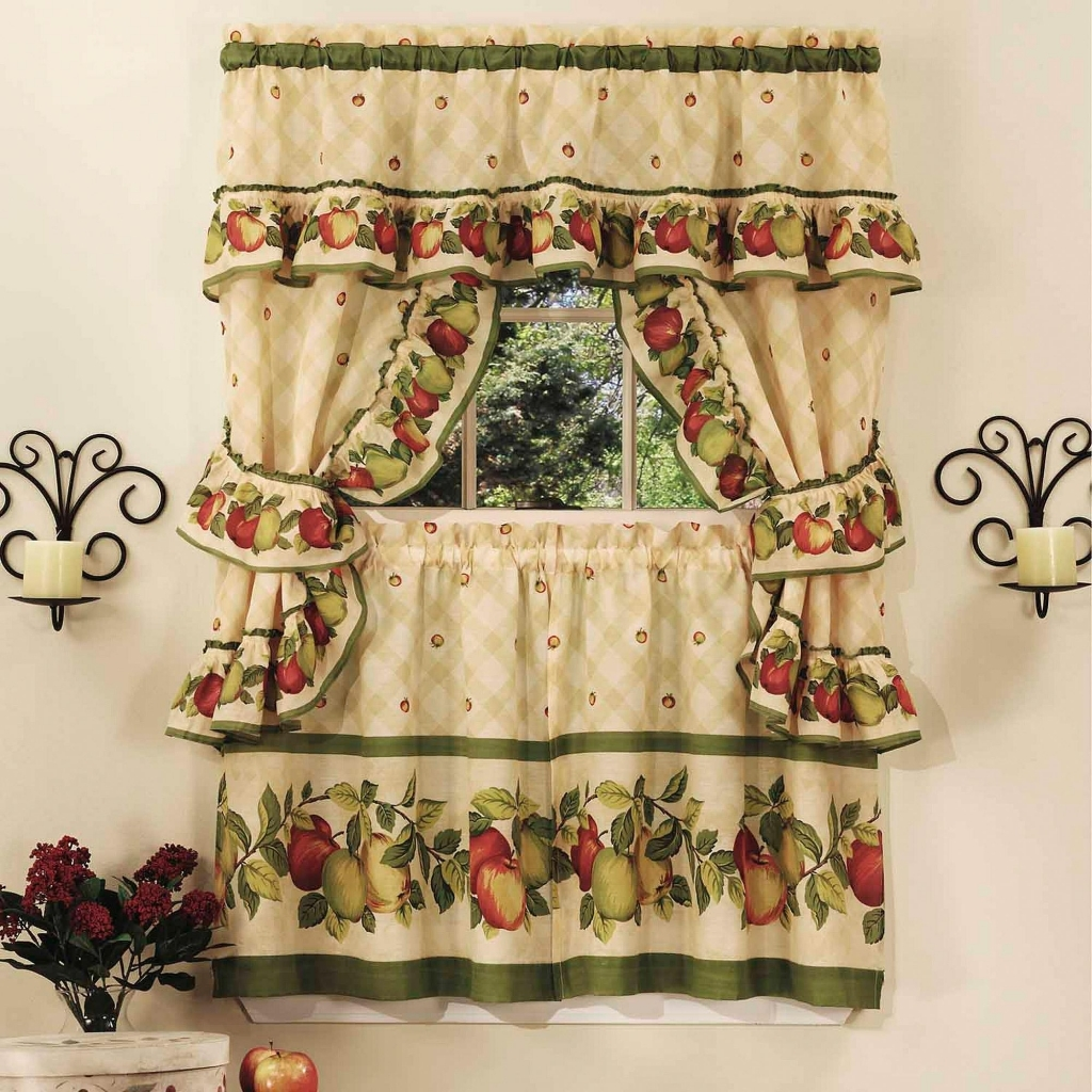 Image of: Kitchen Curtain Sets