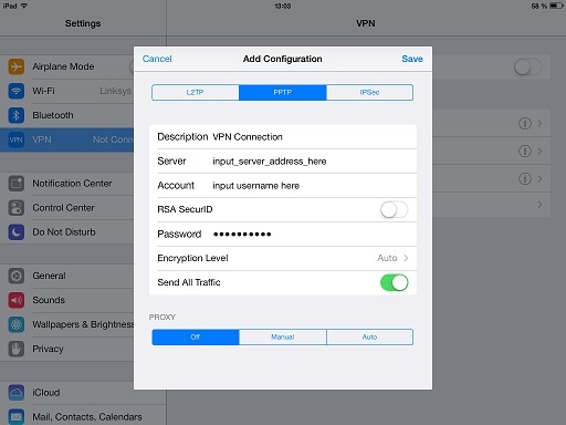 setup vpn in iPhone/iPad 3