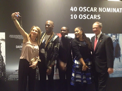 """Ambassador and Mrs Emerson with the director Ava DuVernay and Colman Domingo and David Oyelowo from the cast of """"Selma"""""""