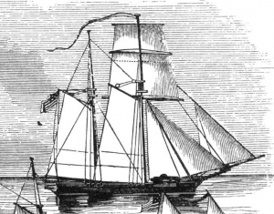Gunboats No. 149 and No. 154 were similar to the War of 1812 gunboat depicted here.