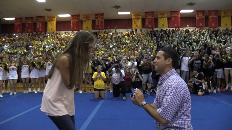 Lassiter High School Coach Proposes to Girlfriend During School Pep Rally