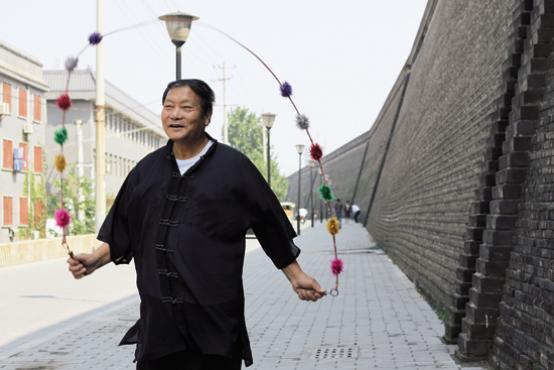 """2009年《中国体育》杂志到西安拍摄""""中华跳绳王"""